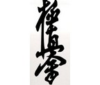 ADHESIVO KARATE KYOKUSHIN KAI NEGRO 10x25cm