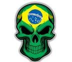 ADHESIVO CALAVERA BANDERA BRASIL