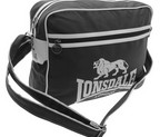 BOLSO LONSDALE FLIGHT BLACK/WHITE