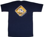 CAMISETA BRAZIL COMBAT CAUTION AZUL
