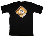 CAMISETA BRAZIL COMBAT CAUTION NEGRO