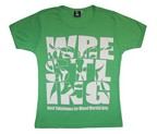 CAMISETA FEMENINA DAN WRESTLING GREEN/BLANCO