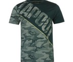 CAMISETA TAPOUT CAMOUFLAGE PANEL TEAL