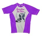 CAMISETA ELASTICA DAN COMPETITION PURPLE&BLANCO