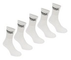 PACK 5 CALCETINES LONSDALE BLANCO