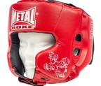 CASCO METAL BOXE MULTIBOXE ROJO JUNIOR