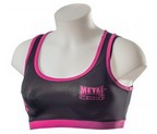 TOP METAL BOXE NEGRO/FUCSIA