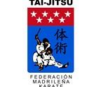 PARCHE TAI-JITSU FEDERACION MADRILEÑA KARATE SUBLIMADO 10x6cm