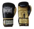 GUANTES KNOCKOUT LEATHER TRAININ GYM NEGRO/DORADO