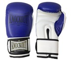 GUANTES KNOCKOUT GYM TRAINING AZUL/BLANCO