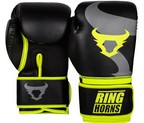 GUANTES RINGHORNS CHARGER BLACK/NEO YELLOW