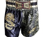 PANTALON MUAY THAI DRAGON DORADO