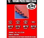 TATAMI PUZZLE DAN ORIGINAL 1x1m 25mm GROSOR